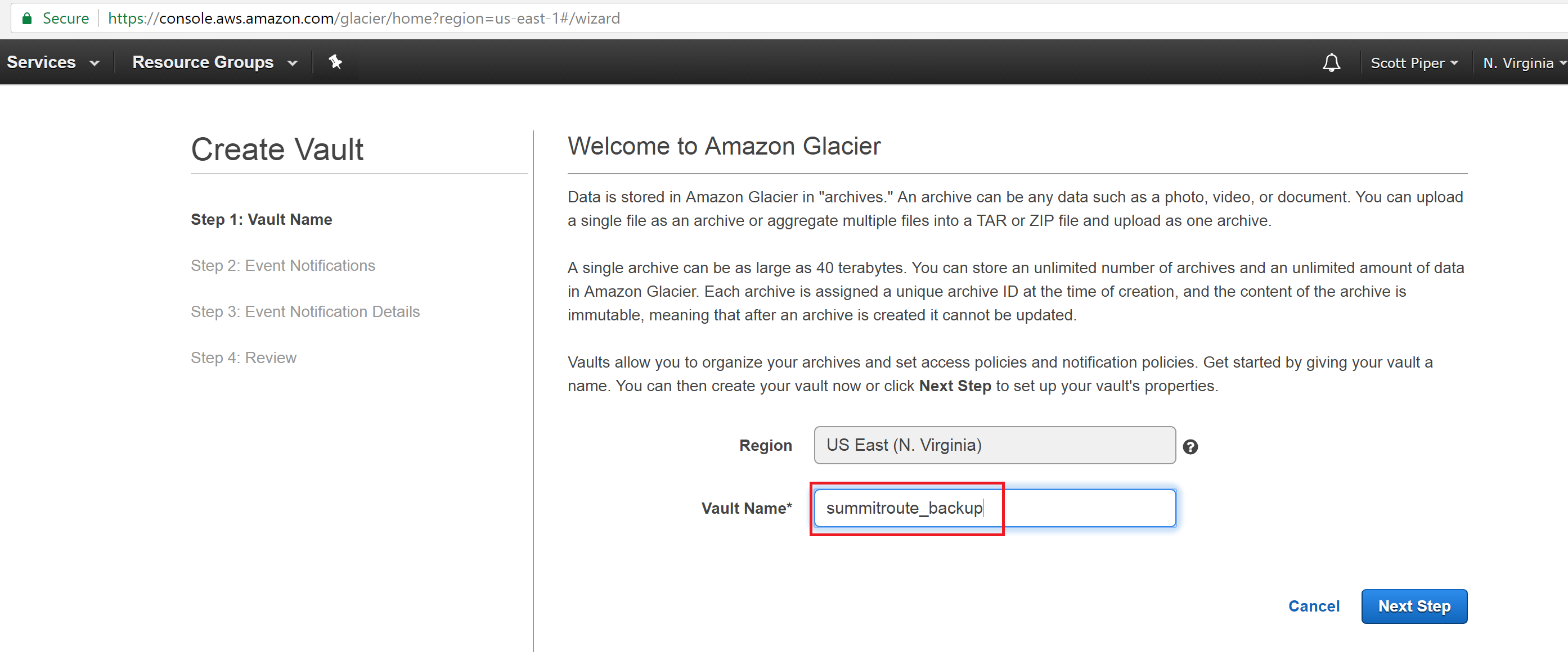 Summit Route - Using AWS for backups